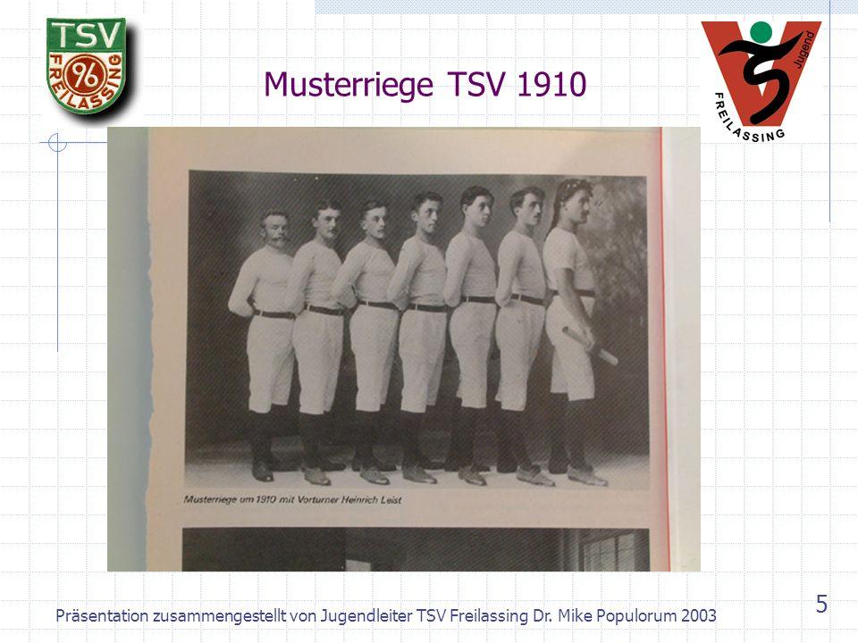 Präsentation zusammengestellt von Jugendleiter TSV Freilassing Dr. Mike Populorum 2003 4 Fahnenweihe TSV Freilassing 1908