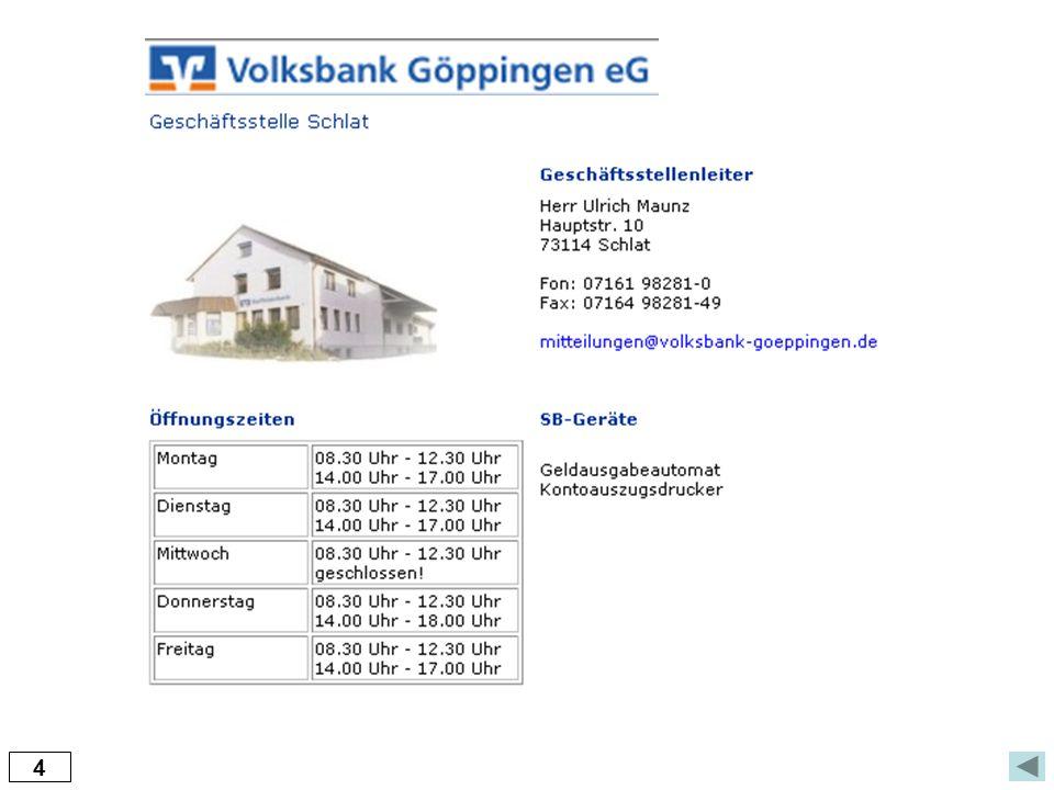 5 Versicherungs- und Finanzmakler Bernd Hausner Schulstraße 2 * 73114 Schlat Tel.