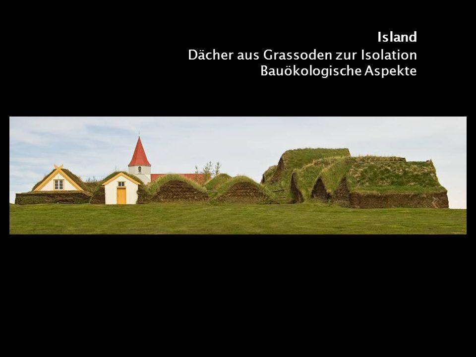 Island Dächer aus Grassoden zur Isolation Bauökologische Aspekte