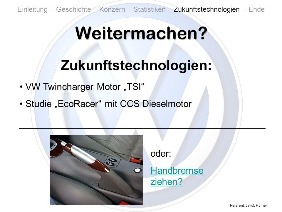 Referent: Jakob Hürner Weitermachen.