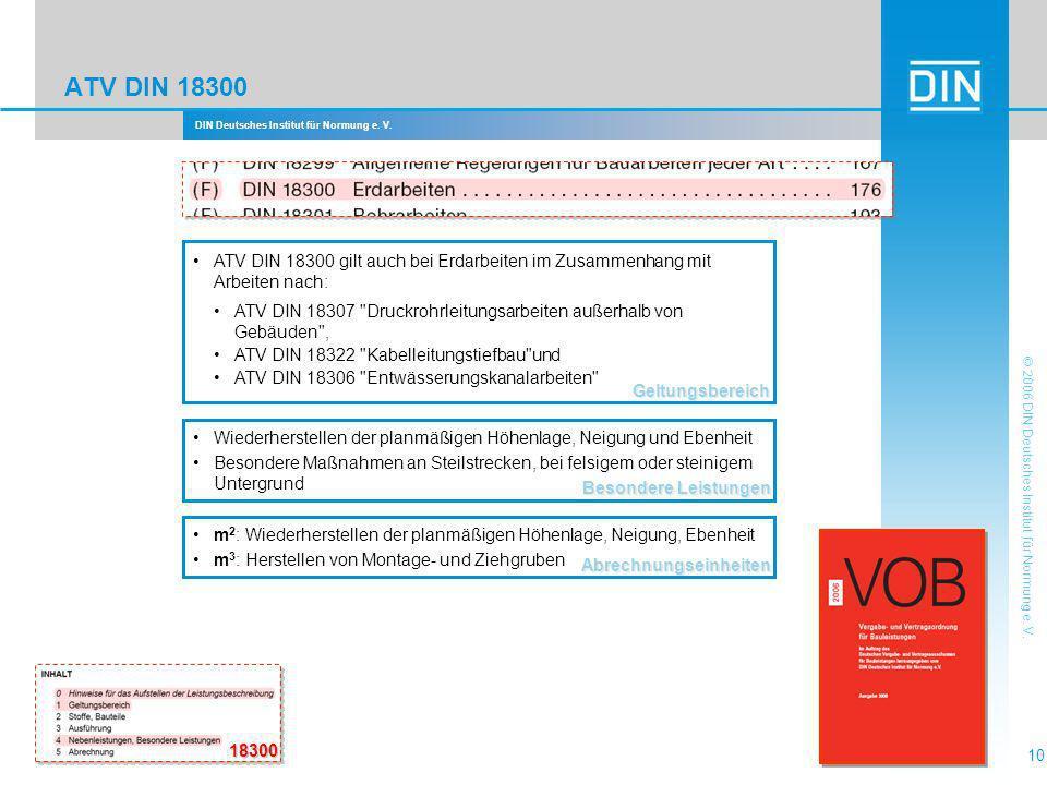 DIN Deutsches Institut für Normung e. V. 10 © 2006 DIN Deutsches Institut für Normung e. V. ATV DIN 18300 Besondere Leistungen Wiederherstellen der pl