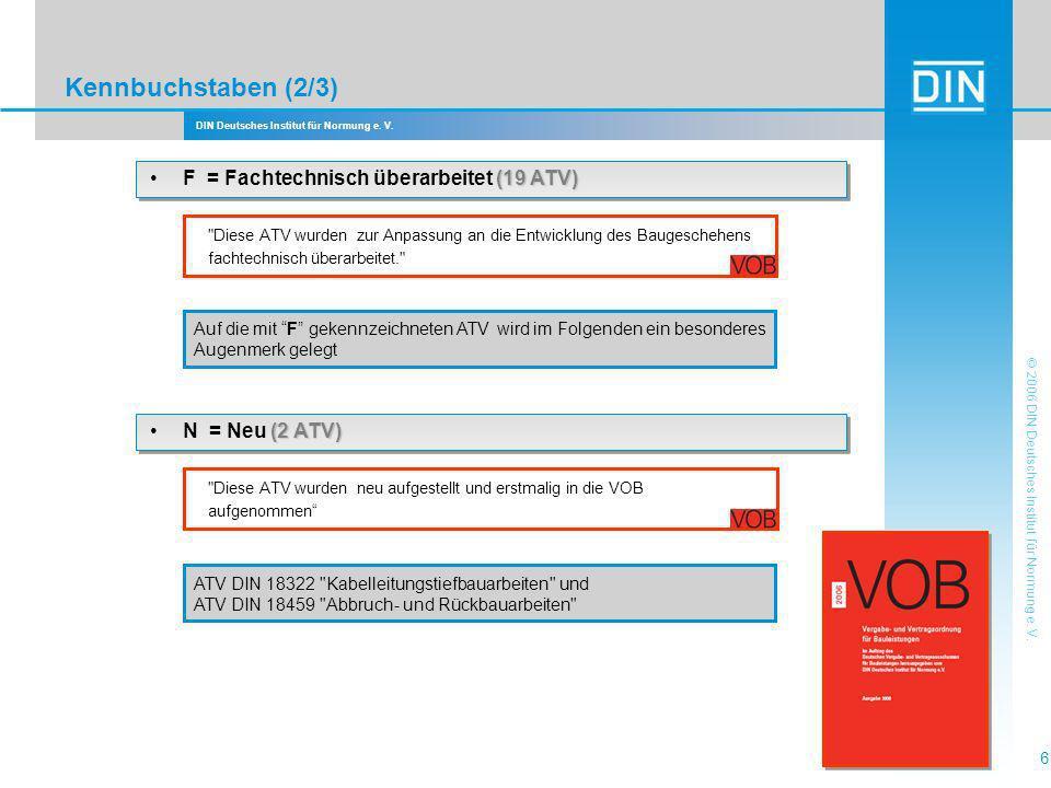 DIN Deutsches Institut für Normung e.V. 17 © 2006 DIN Deutsches Institut für Normung e.