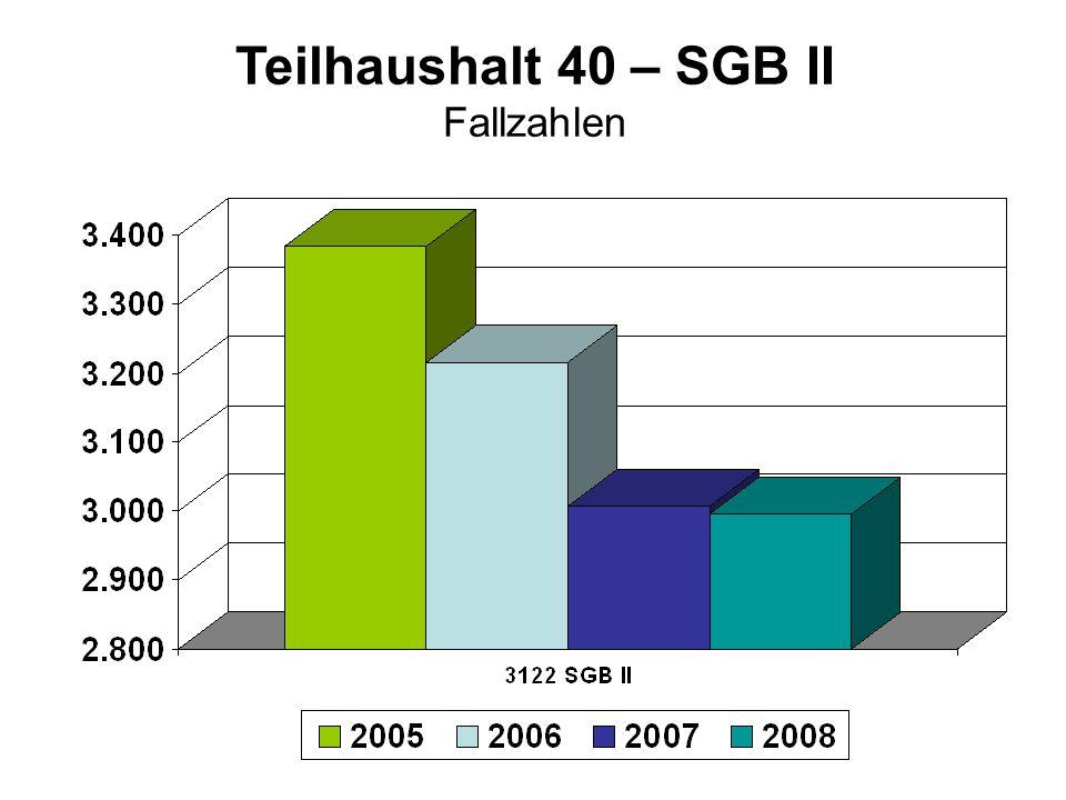 Teilhaushalt 40 – SGB II Fallzahlen