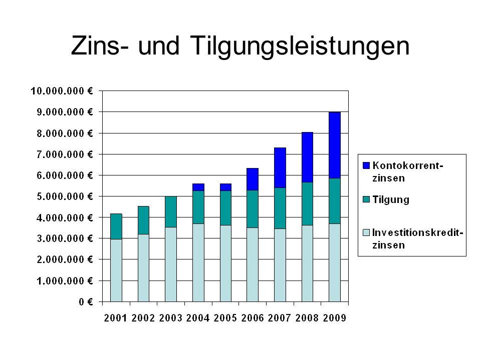 Zins- und Tilgungsleistungen