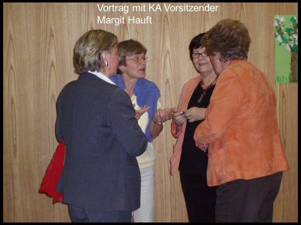 Vortrag mit KA Vorsitzender Margit Hauft