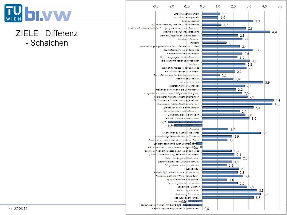 28.02.2014 ZIELE - Differenz - Schalchen