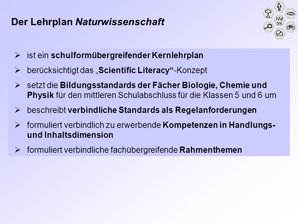 BLK-Modellversuch SINUS Transfer Projekt Naturwissenschaft 5/6