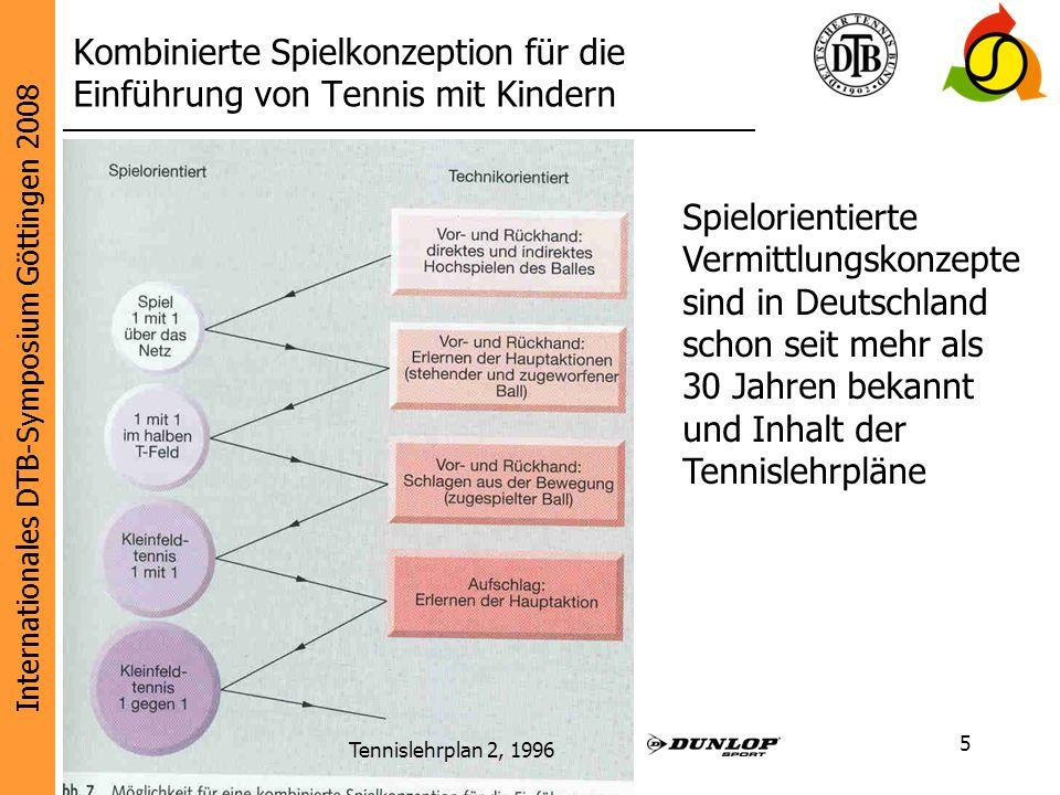 Internationales DTB-Symposium Göttingen 2008 Diese Initiative wird unterstützt von: 5 Kombinierte Spielkonzeption für die Einführung von Tennis mit Ki