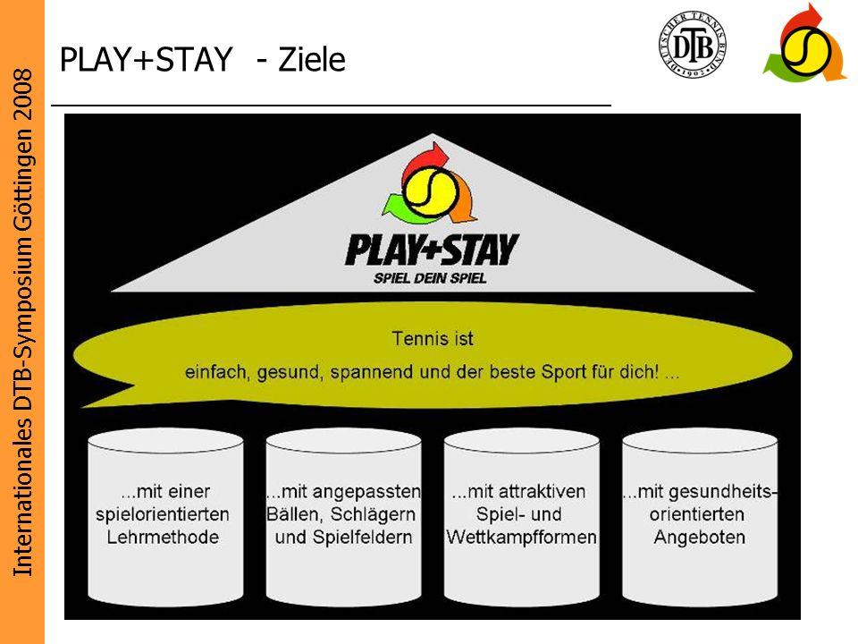 Internationales DTB-Symposium Göttingen 2008 Diese Initiative wird unterstützt von: 9 PLAY+STAY - Ziele