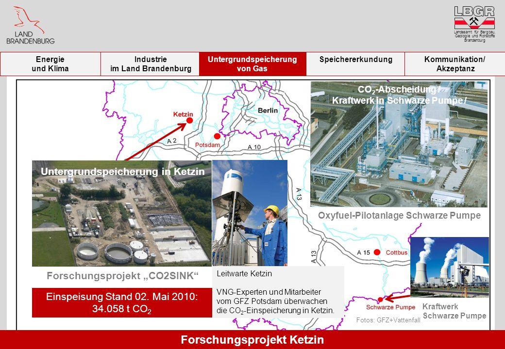 Fotos: GFZ+Vattenfall Kraftwerk Schwarze Pumpe Oxyfuel-Pilotanlage Schwarze Pumpe Forschungsprojekt CO2SINK CO 2 -Abscheidung / Kraftwerk in Schwarze