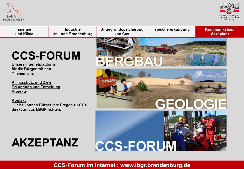 CCS-FORUM Unsere Internetplattform für die Bürger mit den Themen um: Klimaschutz und Ziele Erkundung und Forschung Projekte Kontakt … hier können Bürg
