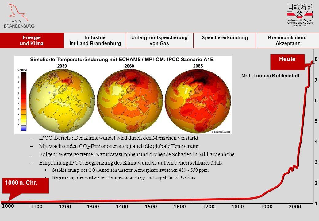 –IPCC-Bericht: Der Klimawandel wird durch den Menschen verstärkt –Mit wachsenden CO 2 -Emissionen steigt auch die globale Temperatur –Folgen: Wetterex