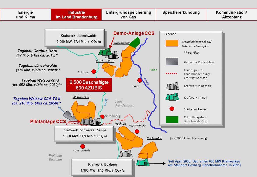 Polen Forst Cottbus Spremberg Weißwasser Neiße Hoyerswerda Spree Seit April 2006: Bau eines 660 MW Kraftwerkes am Standort Boxberg (Inbetriebnahme in