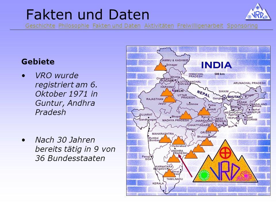 Fakten und Daten Gebiete VRO wurde registriert am 6.