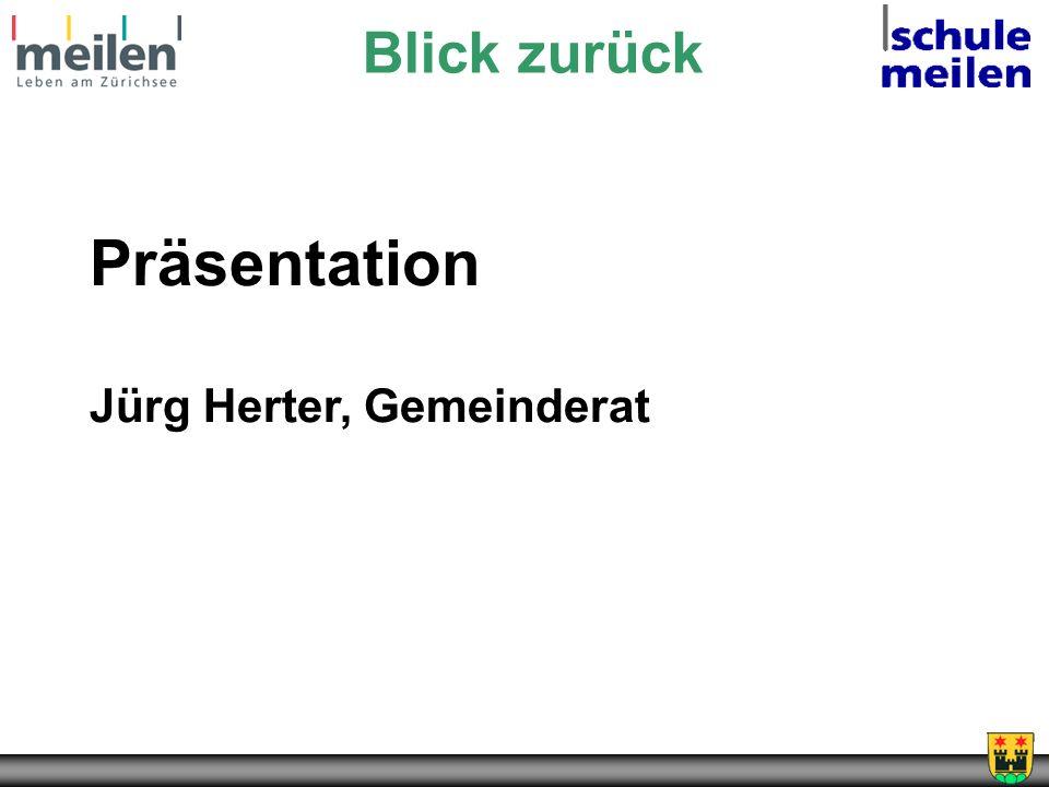 Blick zurück Präsentation Jürg Herter, Gemeinderat