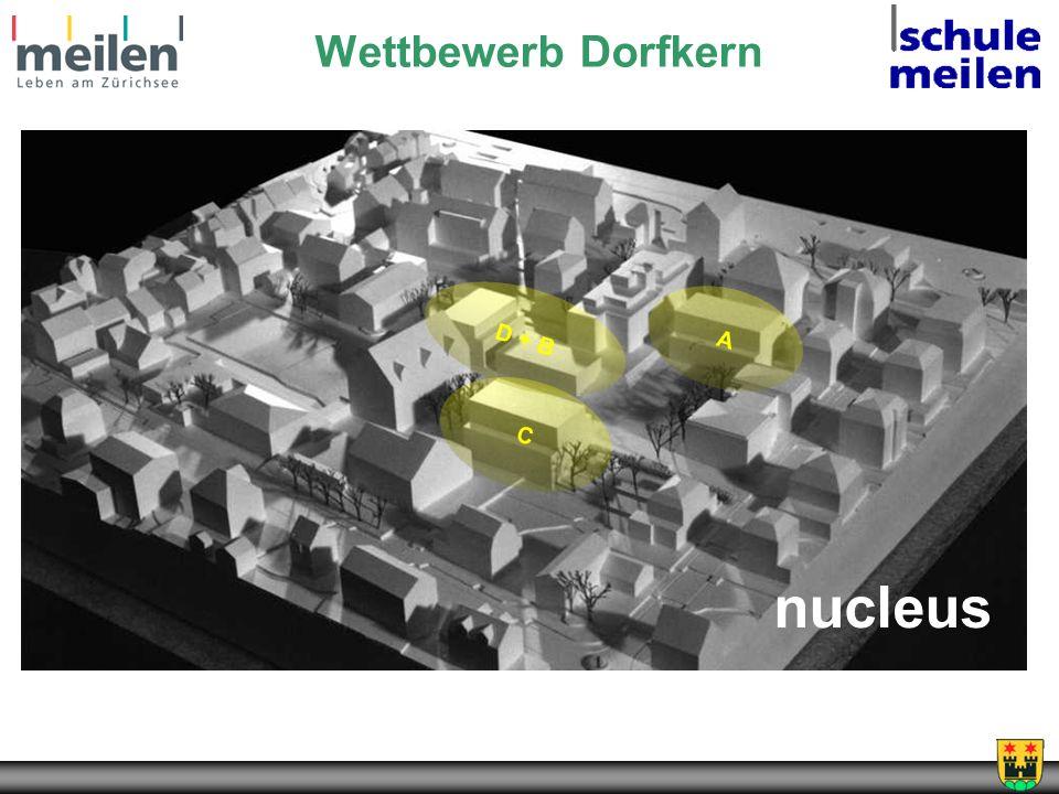 Wettbewerb Dorfkern nucleus D + B C A