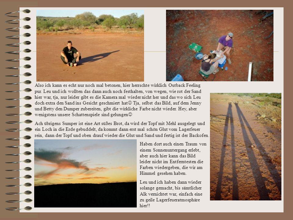 So, nachdem wir dann alle wieder an unserem Truck angekommen waren, die Damenwelt hatte derweil den Uluru zu fuß umrundet, ging es zum Aborigines Cent