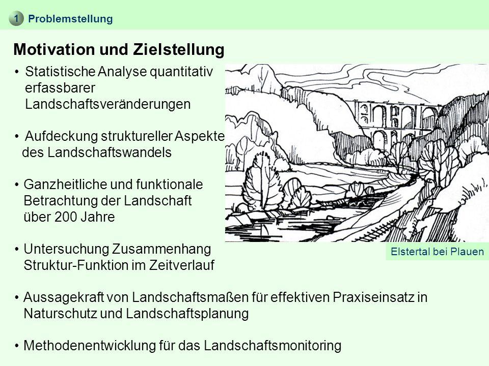Ganzheitliche und funktionale Betrachtung der Landschaft über 200 Jahre Problemstellung Motivation und Zielstellung 1 Statistische Analyse quantitativ