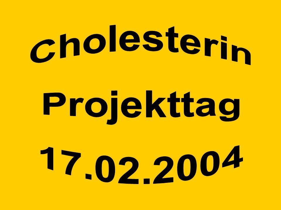 Powerpoint Powerpoint-Präsentationen Cholesterin hat viele Gesichter (Übersicht/ einfach und komplex) Cholesterin Übersichtsdarstellungen Teilprojekte 15 bis 24