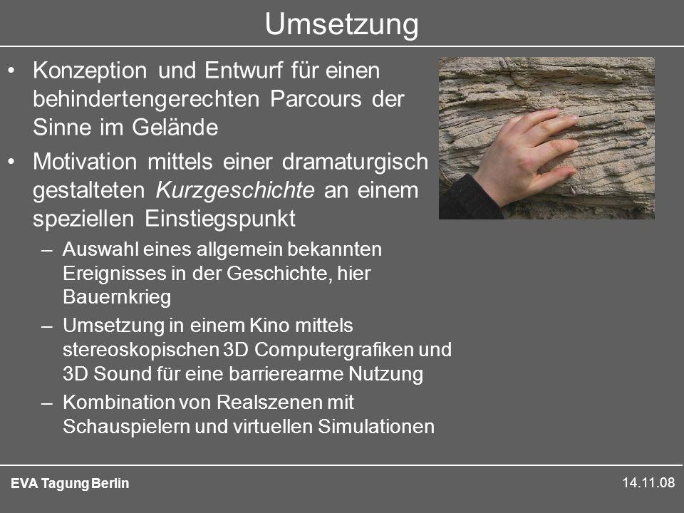 14.11.08 EVA Tagung Berlin Viele Dimensionen Design Nutzerprofile Story Gratwanderung Technikbewußt