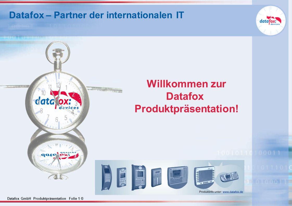 Datafox GmbH Produktpräsentation Folie 12 ® Datafox - Studio Setup Komplett frei parametrierbar Tabellen frei definierbar, 20 Tabellen mit je max.