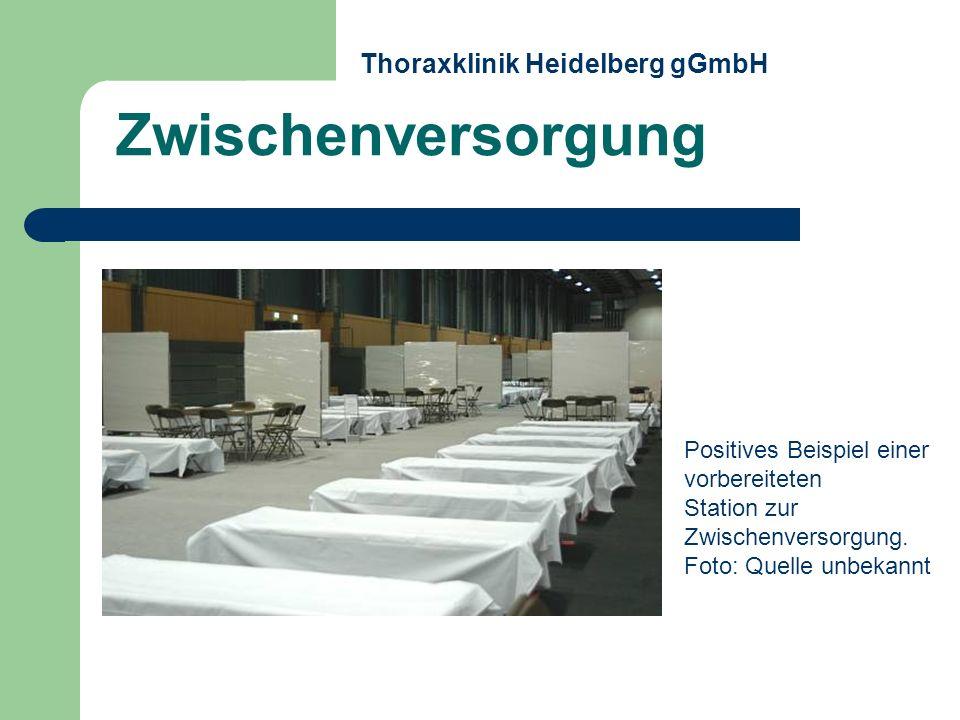 Zwischenversorgung Thoraxklinik Heidelberg gGmbH Positives Beispiel einer vorbereiteten Station zur Zwischenversorgung. Foto: Quelle unbekannt