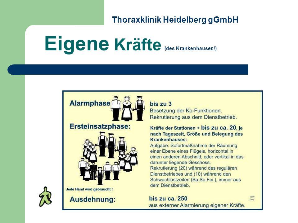 Eigene Kräfte (des Krankenhauses!) Thoraxklinik Heidelberg gGmbH