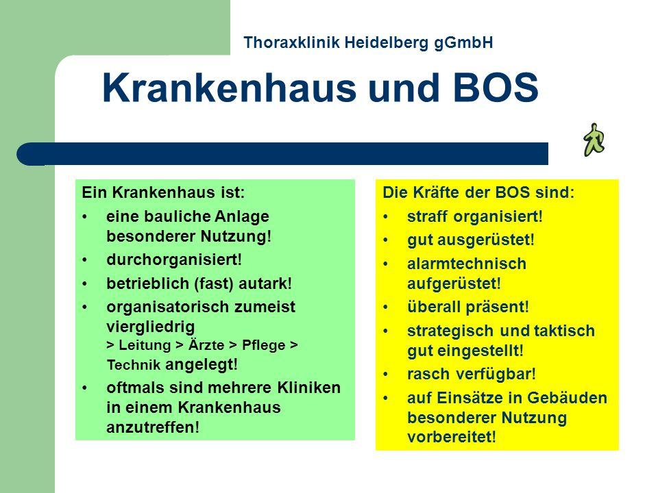 Rettungsabschnitte Thoraxklinik Heidelberg gGmbH