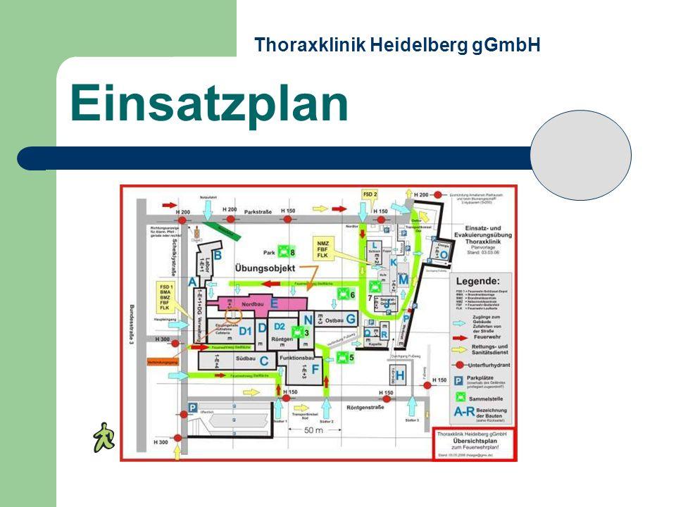 Einsatzplan Thoraxklinik Heidelberg gGmbH