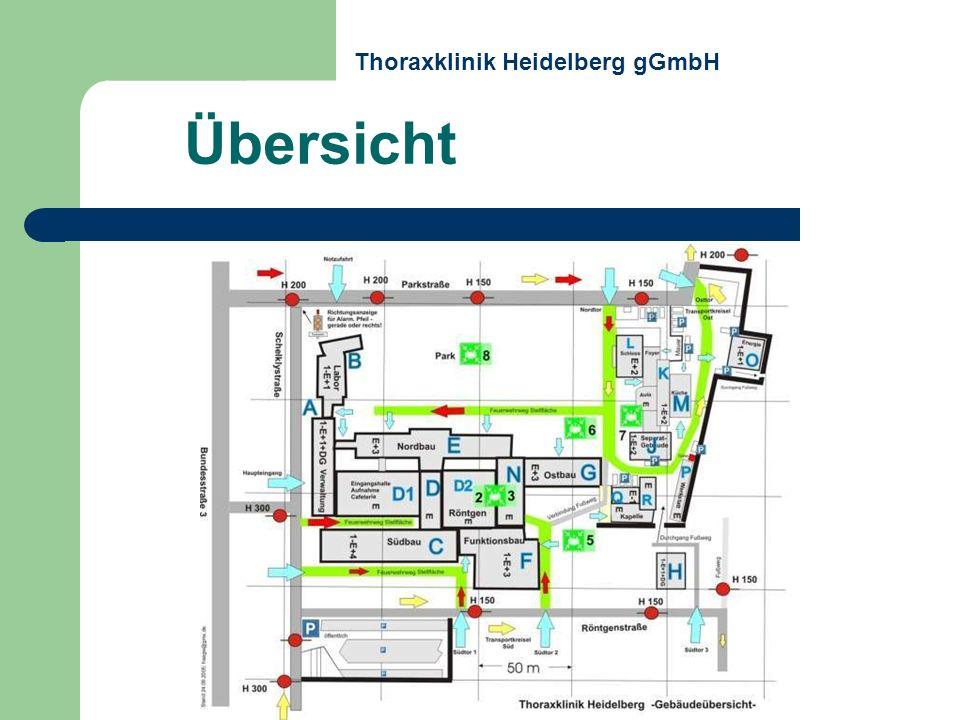 > S 8 gehfähig > S 5, 6+7 liegend Äußere Sammelstellen Patienten: Thoraxklinik Heidelberg gGmbH