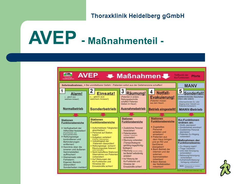 AVEP - Maßnahmenteil - Thoraxklinik Heidelberg gGmbH