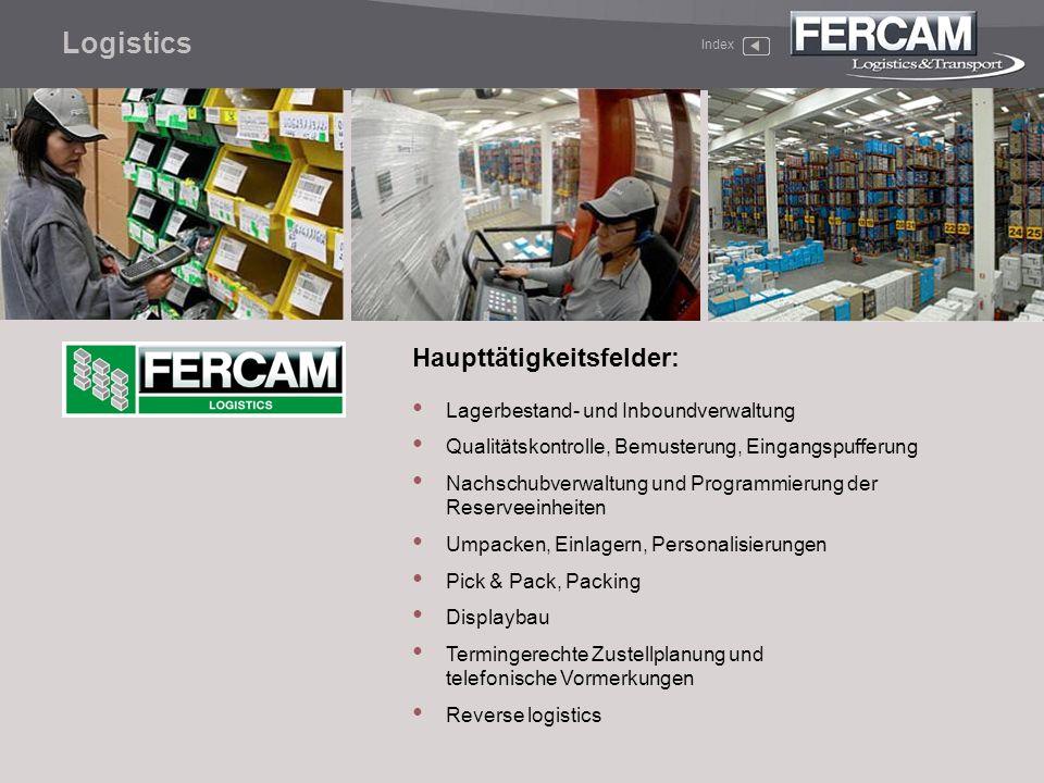 Haupttätigkeitsfelder: Lagerbestand- und Inboundverwaltung Qualitätskontrolle, Bemusterung, Eingangspufferung Nachschubverwaltung und Programmierung d