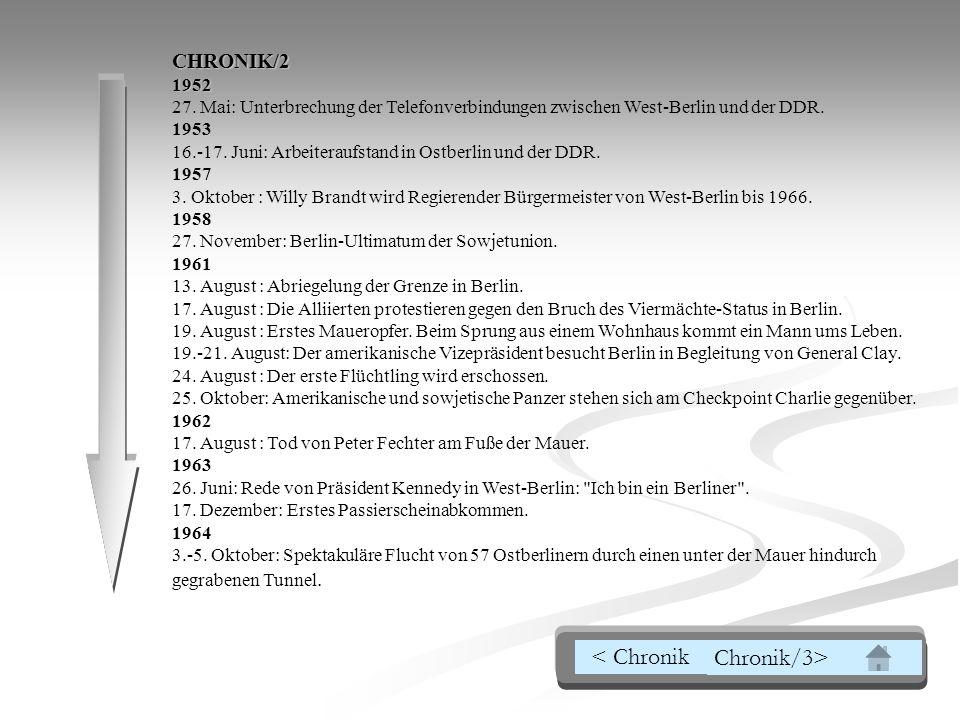 CHRONIK/21952 27.Mai: Unterbrechung der Telefonverbindungen zwischen West-Berlin und der DDR.