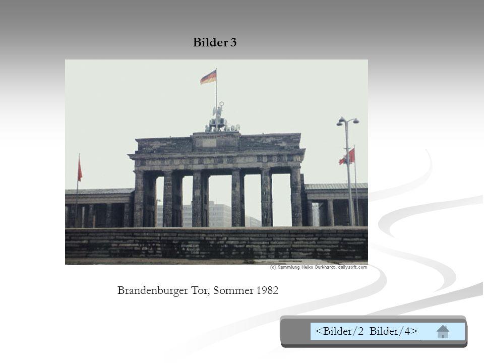 die Grenze verlief am Brandenburger Tor, an der Spree und am Potsdamer Platz; der Alexander Platz, das Herz der alten Hauptstadt, lag im sowjetischen Sektor, während die Trümmer des Reichstag, des Herzen des nationalistischen Regimes, im Westsektor als Mahnmal der Vergangenheit blieben.