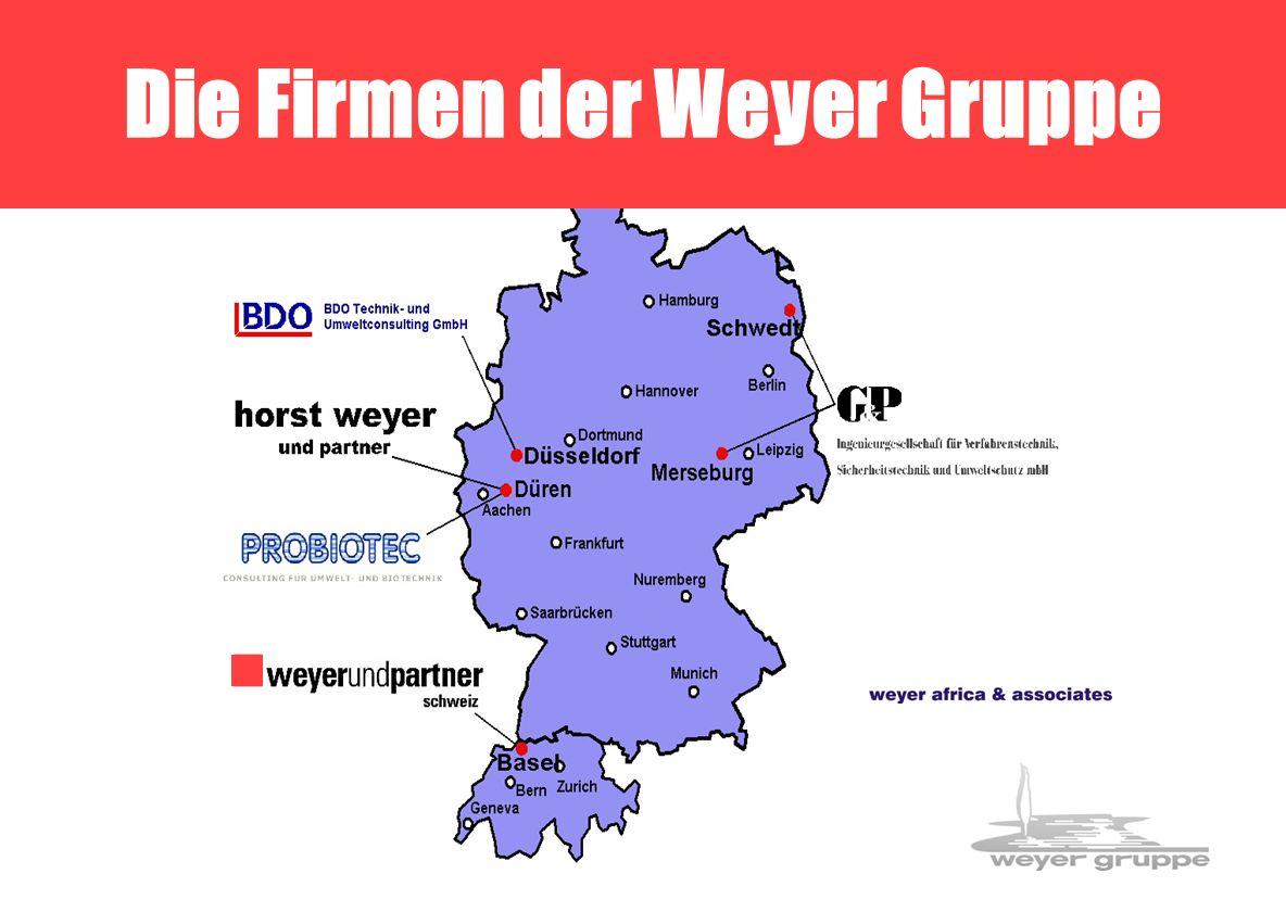 Weyer-Gruppe 2 Die Firmen der Weyer Gruppe
