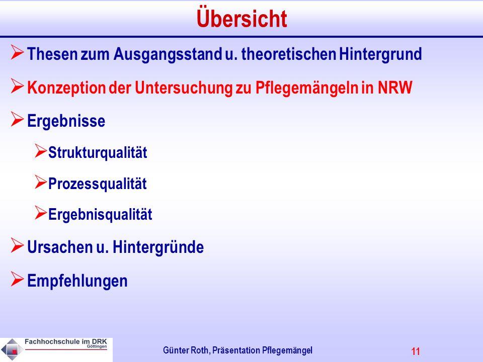 11 Günter Roth, Präsentation Pflegemängel Übersicht Thesen zum Ausgangsstand u.
