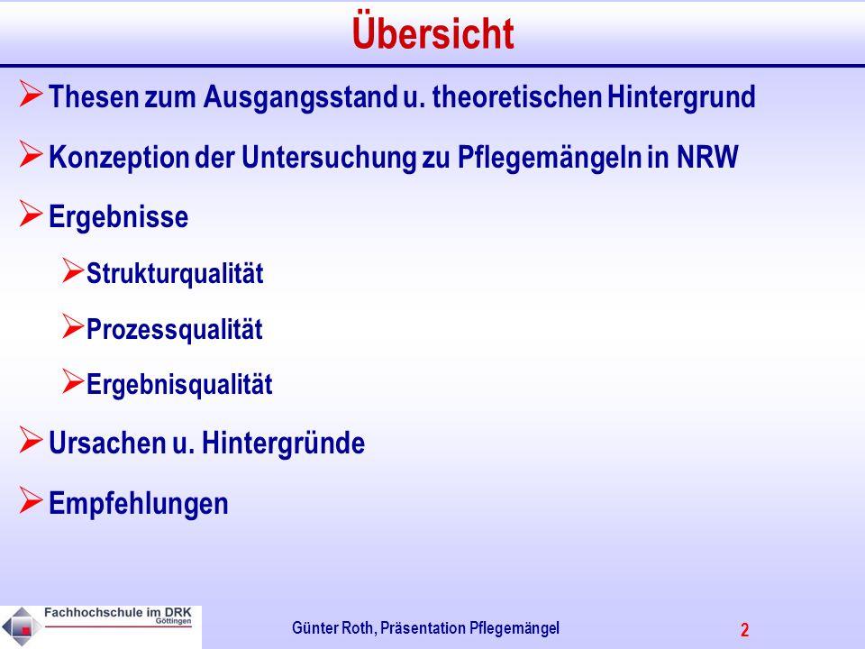 2 Günter Roth, Präsentation Pflegemängel Übersicht Thesen zum Ausgangsstand u.