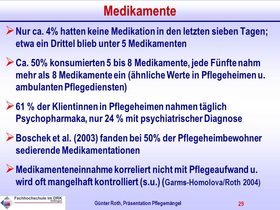 29 Günter Roth, Präsentation Pflegemängel Medikamente Nur ca.