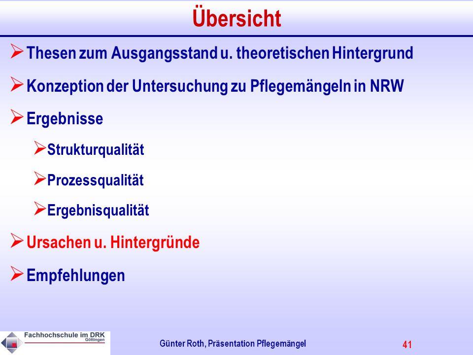 41 Günter Roth, Präsentation Pflegemängel Übersicht Thesen zum Ausgangsstand u.