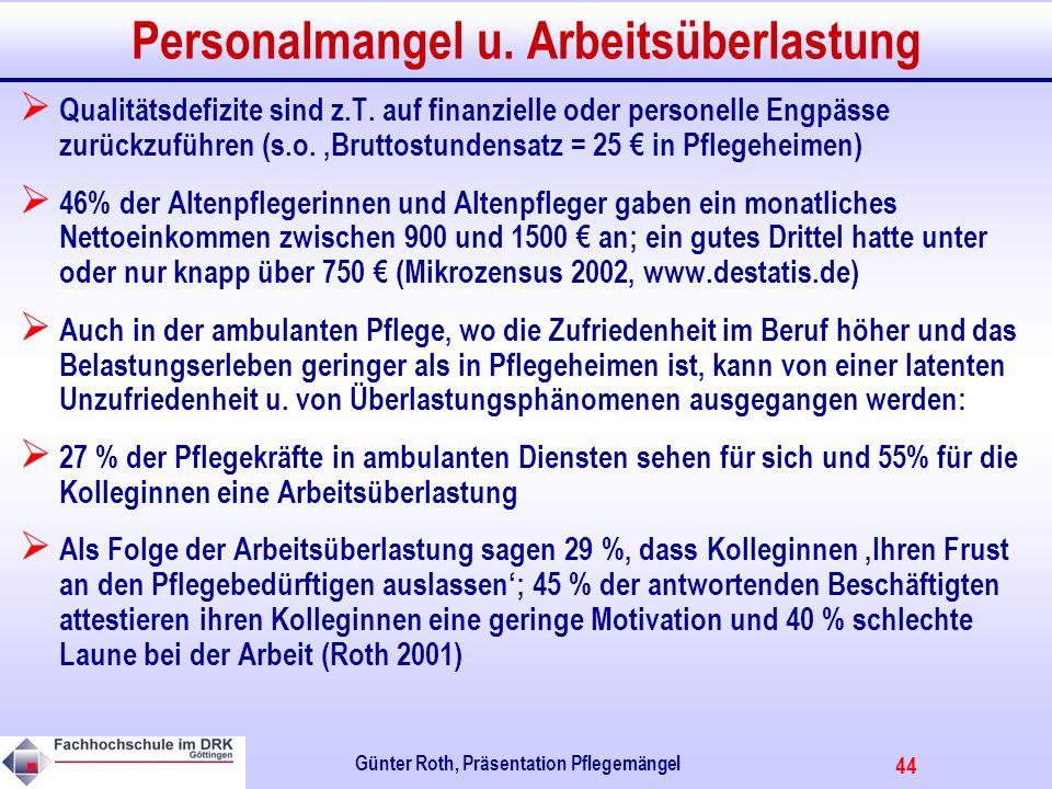 44 Günter Roth, Präsentation Pflegemängel Personalmangel u.