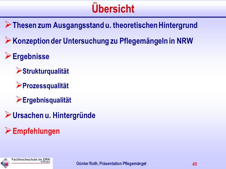 49 Günter Roth, Präsentation Pflegemängel Übersicht Thesen zum Ausgangsstand u.