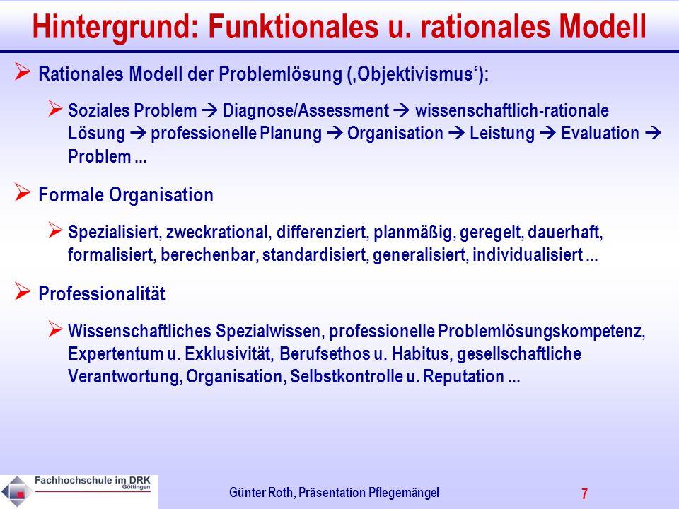 7 Günter Roth, Präsentation Pflegemängel Hintergrund: Funktionales u.