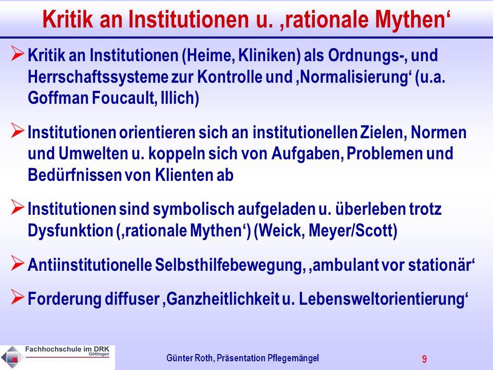 9 Günter Roth, Präsentation Pflegemängel Kritik an Institutionen u.