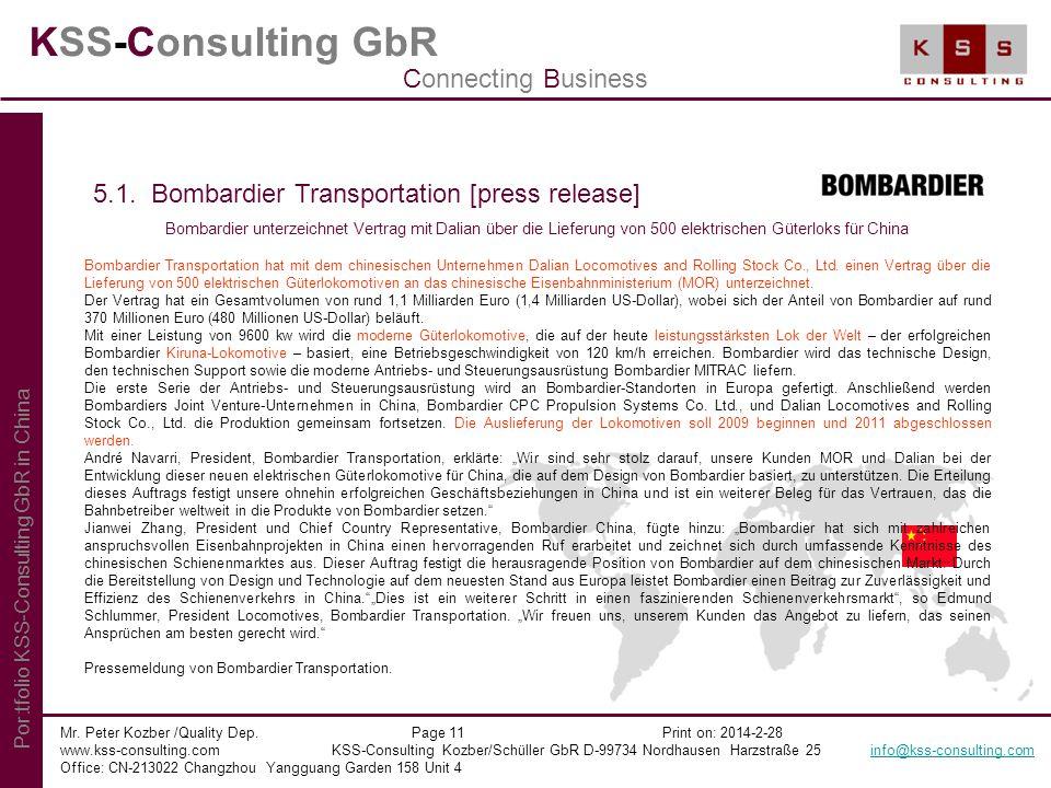 KSS-Consulting GbR Mr. Peter Kozber /Quality Dep. Page 11 Print on: 2014-2-28 www.kss-consulting.com KSS-Consulting Kozber/Schüller GbR D-99734 Nordha