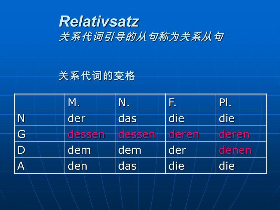 Relativsatz ARelativs ä tze mit dem Relativpronomen im Nominativ, Dativ und Akkusativ Das Land ist gro ß.