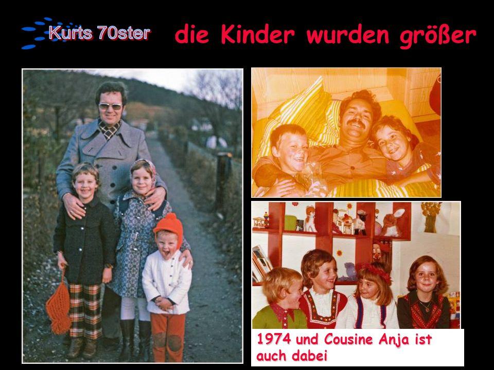 die Kinder wurden größer 1974 und Cousine Anja ist auch dabei