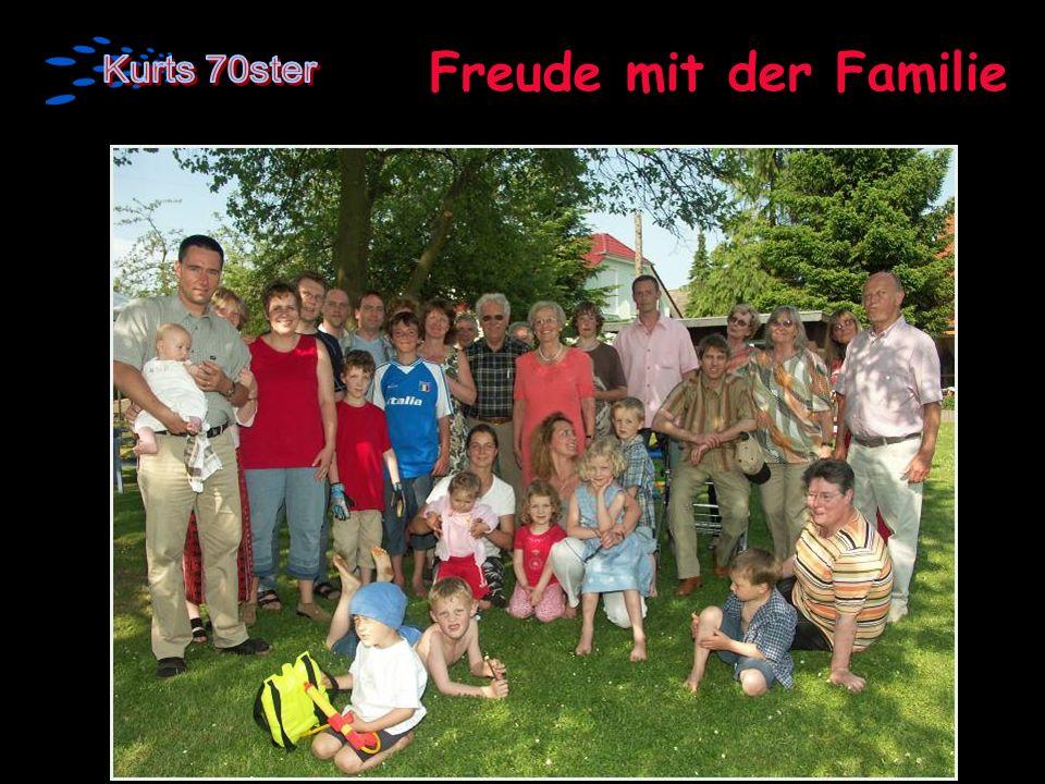 Freude mit der Familie