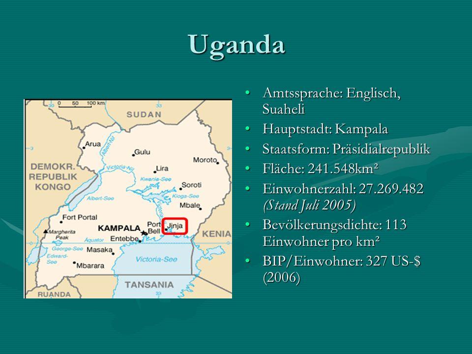 Vergangenheit Ugandas Uganda litt lange Zeit unter brutalen KriegenUganda litt lange Zeit unter brutalen Kriegen Als 1986 Präsident Yoweri Museveni an die Macht kam, wurde der größte Teil Ugandas befriedet.