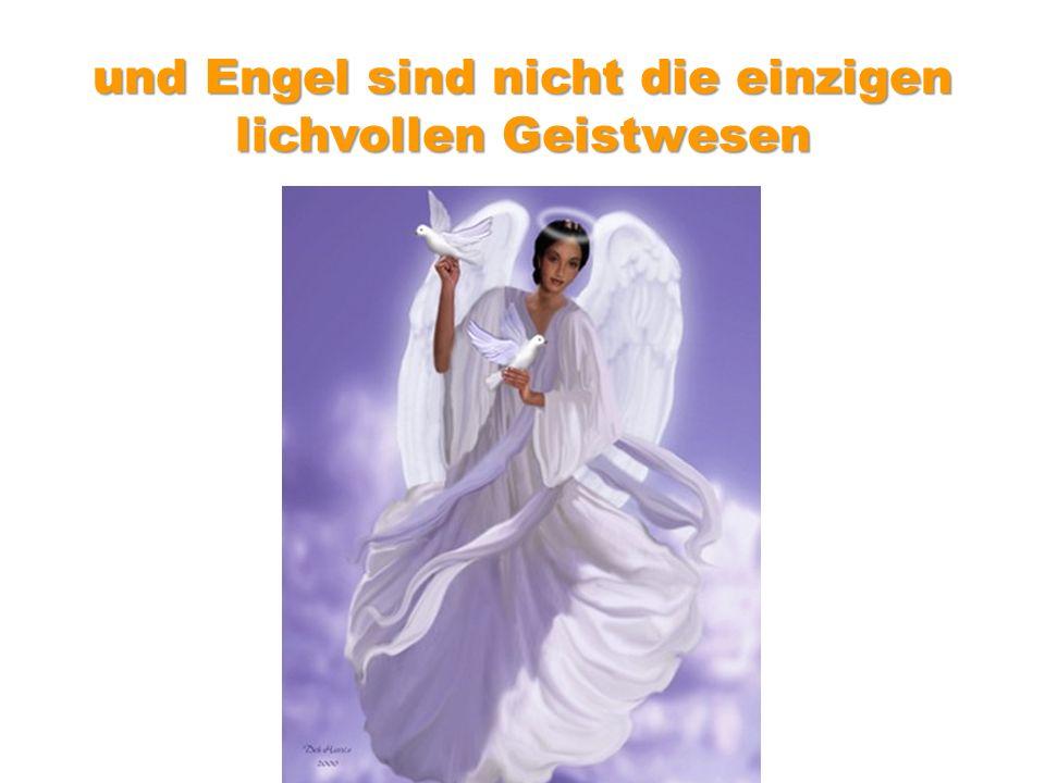 und Engel sind nicht die einzigen lichvollen Geistwesen