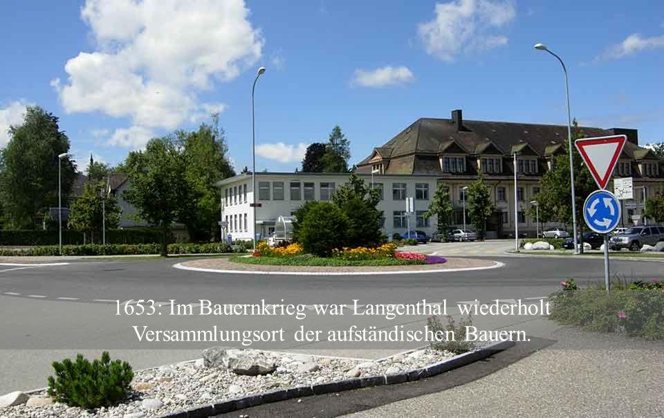 1542: Ein Grossbrand zerstört etwa 1/3 des Dorfes.